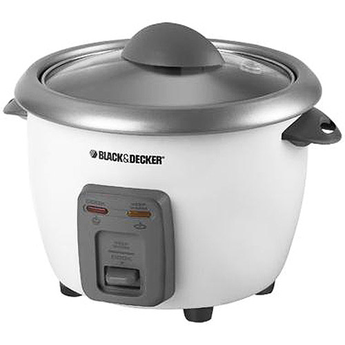 Black & Decker 6-Cup Rice Cooker with Steamer Basket