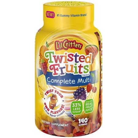 2 Pack - L'il Critters Twisted Fruits Flavors Complete Multivitamin 140 ea