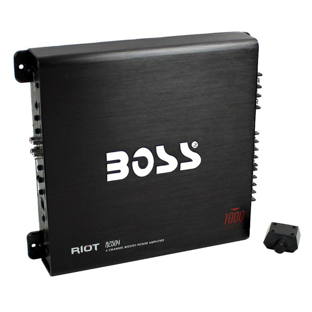 BOSS Audio R2504 RIOT Series 1000W Mosfet Power 4-Channel Amplifier