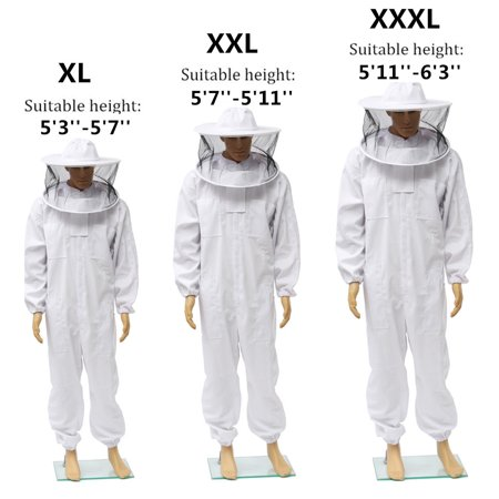 Professional Cotton Full Body Beekeeping Suit Bee Keeping Jacket Smock with Removable Round Hat Veil](Professional Gorilla Suit)