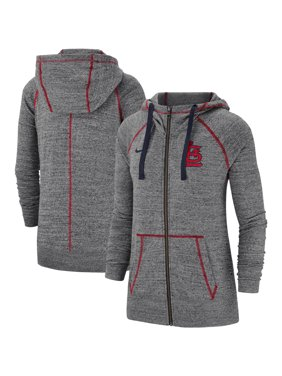 4006be38d5 Product Image St. Louis Cardinals Nike Women s Gym Vintage Team Full-Zip  Hoodie - Gray