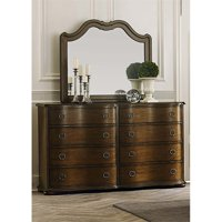Liberty Furniture Cotswold Dresser and Mirror Set in Cinnamon