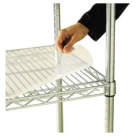 Alera Shelf Liners For Wire Shelving, Clear Plastic, 48w x 18d, 4/Pack -ALESW59SL4818 Alera Shelf Liners