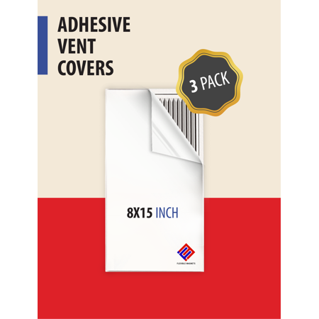 Vented Vent - Adhesive Vent Cover. AC Vent Deflector Perfect for HVAC in RV or Home - 8