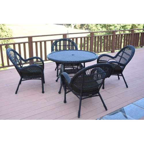 August Grove Mangum 5 Piece Dining Set with Cushions