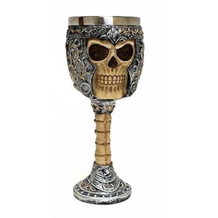 Skull Wine Goblet Chalice, Ossuary Skeleton Drinking Cup](Skeleton Drinking)