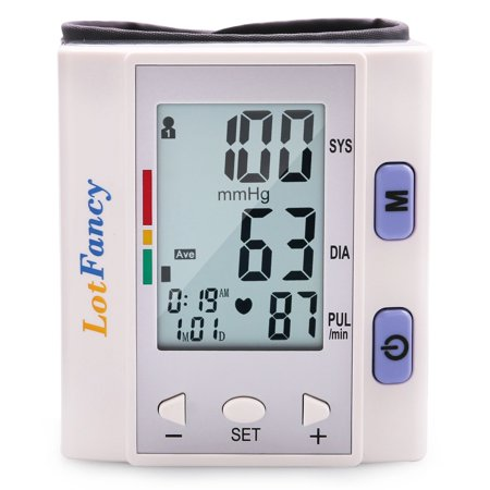 Wrist Blood Pressure Monitor Machine with Portable Case for Home Use, FDA Approved, WHO Indicator, 60 - Using Fake Blood