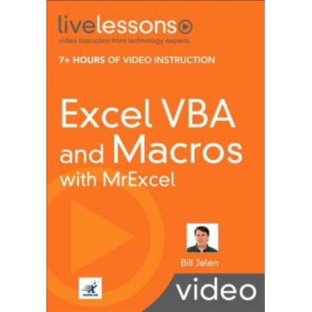 Excel VBA and Macros with MrExcel LiveLessons (video Training) (Paperback)