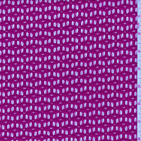 Magenta Pink Crocheted Check Nylon Lace, Fabric By the Yard