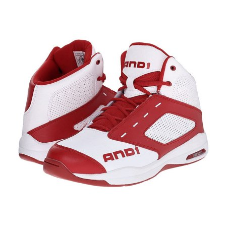 And 1 Typhoon D1090MWRW White Red Athletic Basketball Shoes Deep Range Basketball Shoe