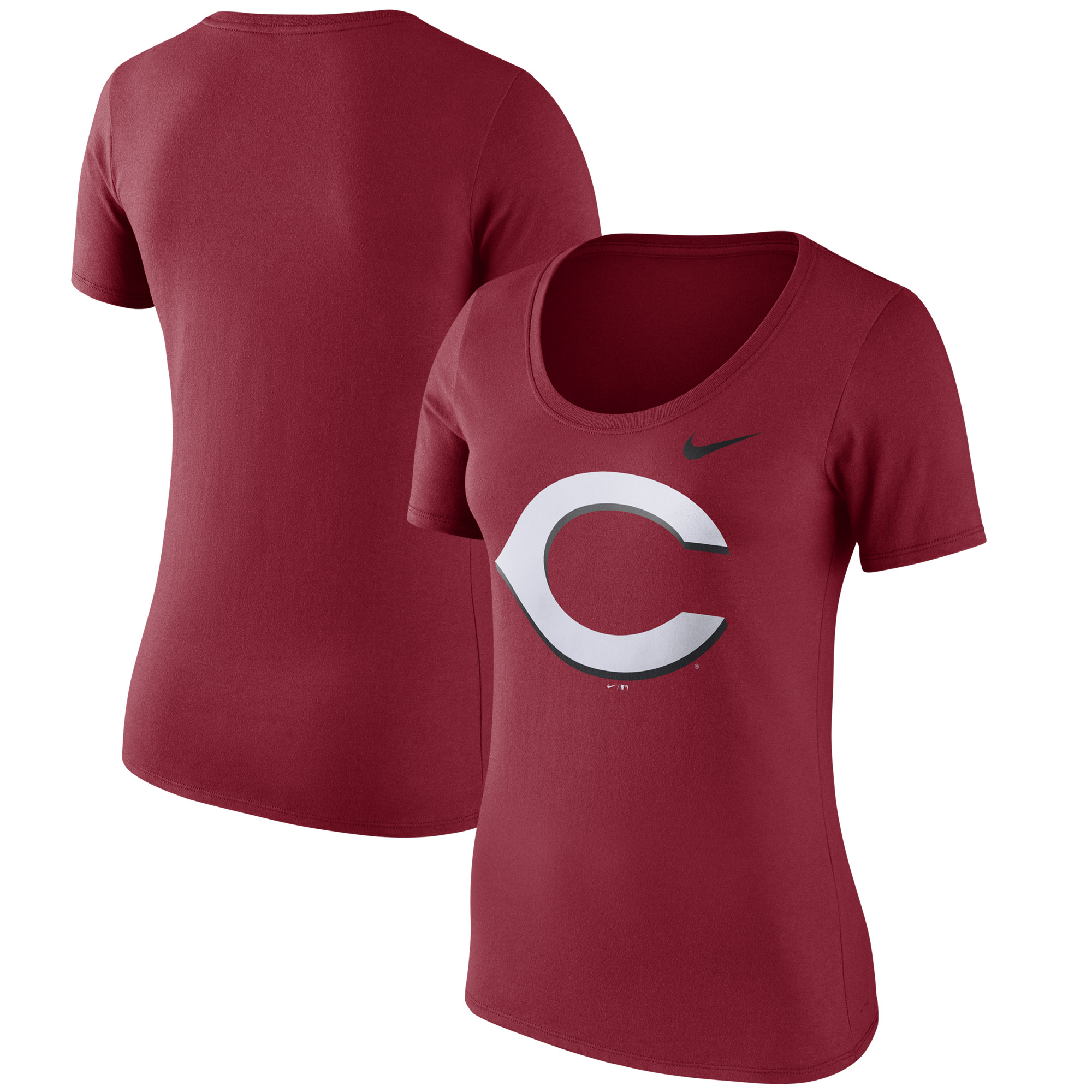 Cincinnati Reds Nike Women's Logo Scoop Neck T-Shirt - Red