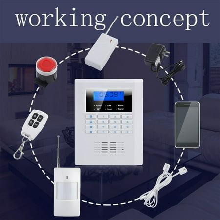 Burglar Alarm Set Wireless Gsm Dual Network Home Security