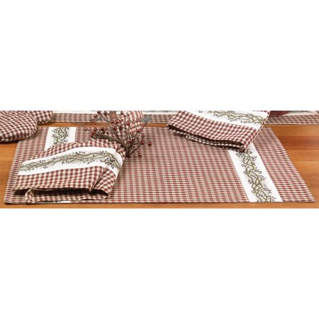 Burgundy Berry Vine Country Placemat Set of 4
