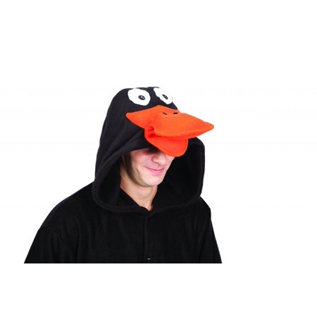 Black Duck Laffy Adult Funsie Costume-Funsies - Adult One Size-Black and Orange