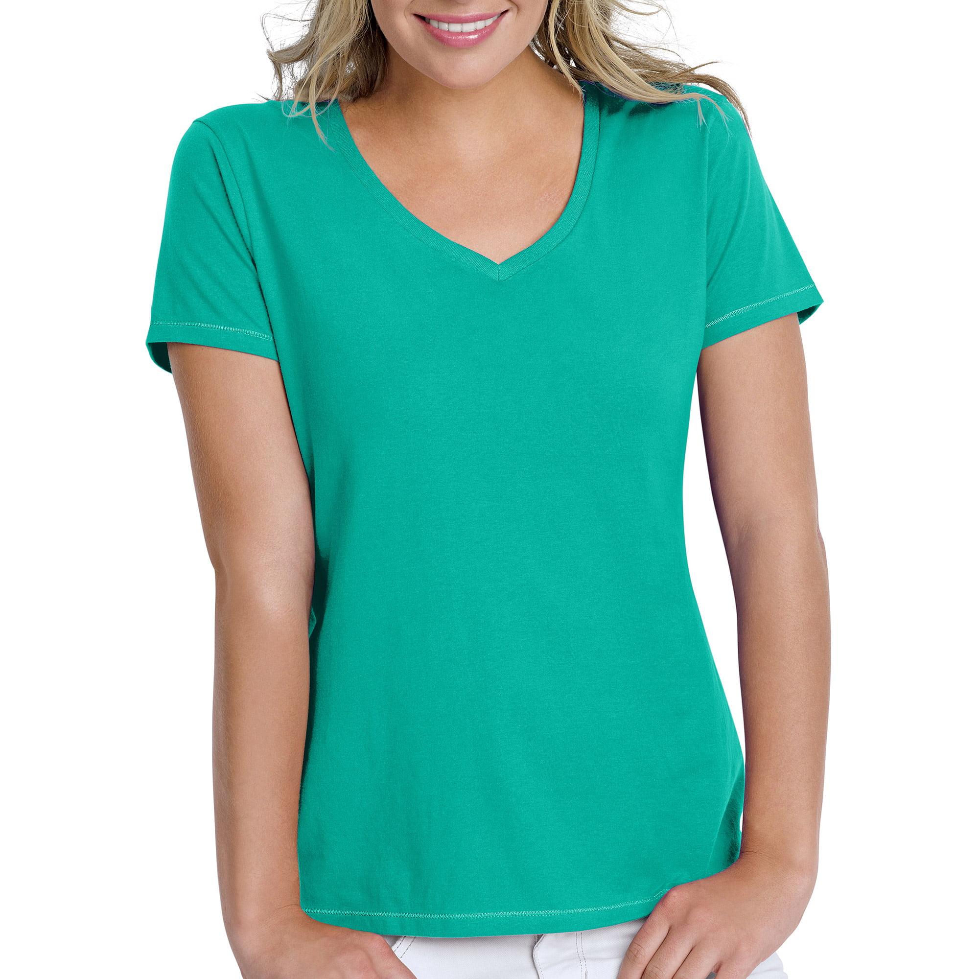 21d84c0e Hanes - Hanes Women's Essential Short-Sleeve V-neck T-Shirt - Walmart.com