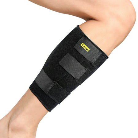 Calf Pull (WALFRONT Shin Splint Sleeve Support Lower Leg Wrap Muscle Calf Compression Brace of Easy to put on and Comfort Fit for Pulled Calf Muscle Pain Strain Injury, Swelling, Fits Men)