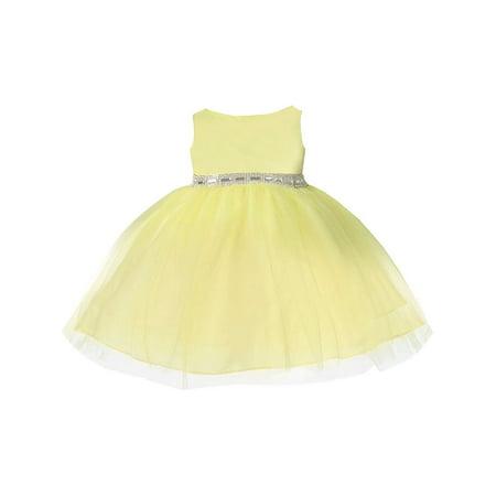 Baby girls yellow rhinestone tulle flower girl dress 6 24m walmart baby girls yellow rhinestone tulle flower girl dress 6 24m mightylinksfo