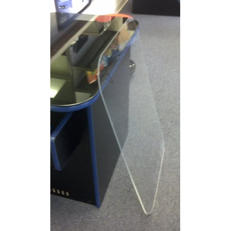 8 Inch Radius Corner - Replacement cocktail table top 0.25 inch Plexiglas Fits cabinets with 4 inch radius corners