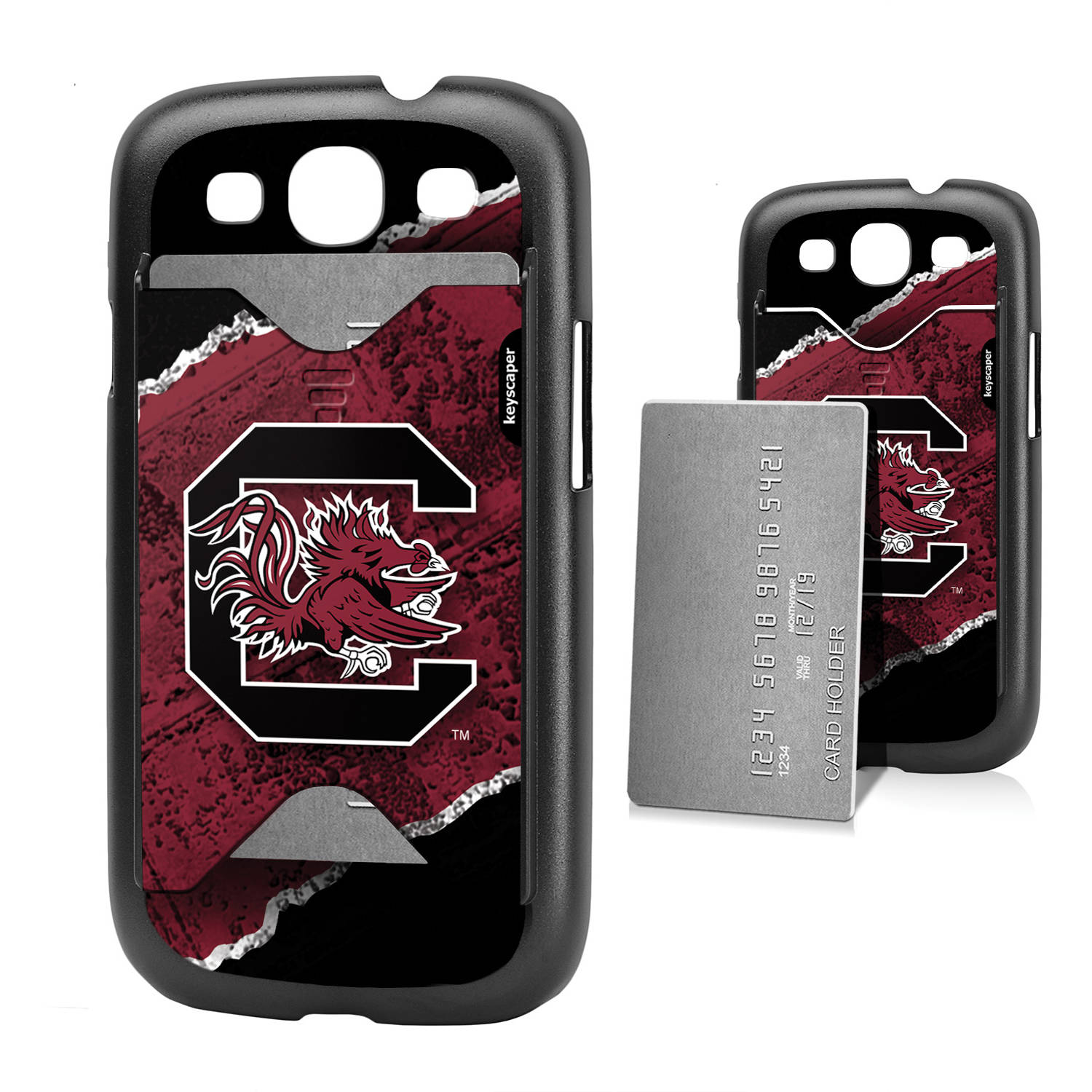 South Carolina Fighting Gamecocks Galaxy S3 Credit Card Case