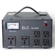 ELC TR-5000 5000 Watt Voltage Regulator with Transformer - Step Up/Down - 110V/220V - Circuit Breaker Protection