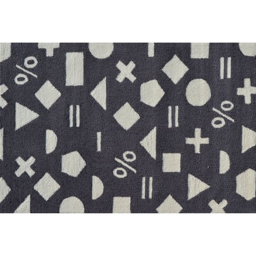 "The Rug Market Math Dot Grey 2.8"" x 4.8"" Area Rug by The Rug Market"