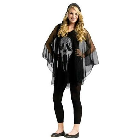 Poncho Ghost Face Teen Costume - Ghost Face Scarecrow
