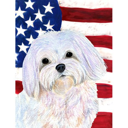 Caroline's Treasures USA American Flag with Maltese House Vertical Flag