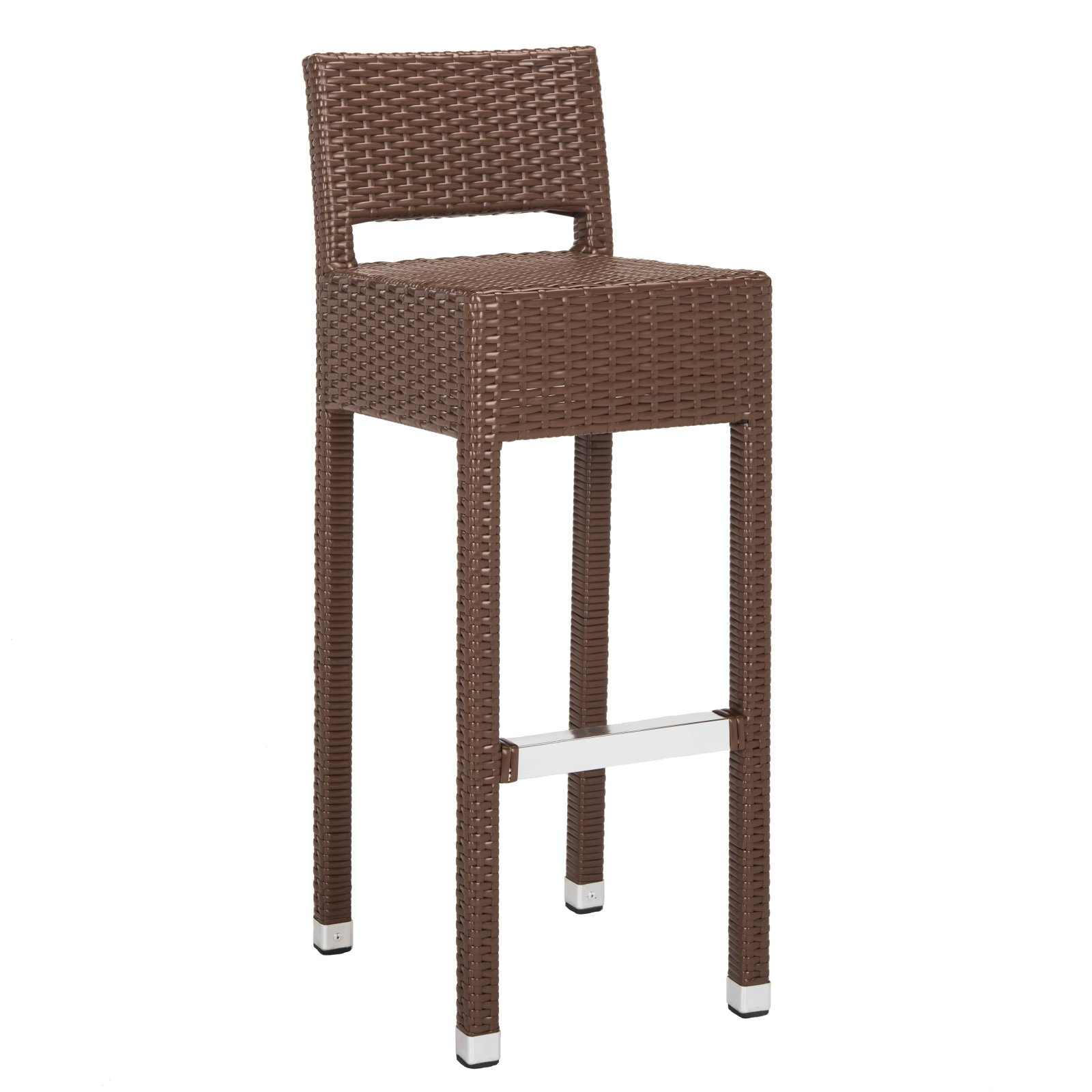Safavieh Landry 38 in. High Indoor/Outdoor Rattan Bar Stool