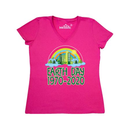 Earth Day Anniversary 1970 2020 Women's V-Neck T-Shirt