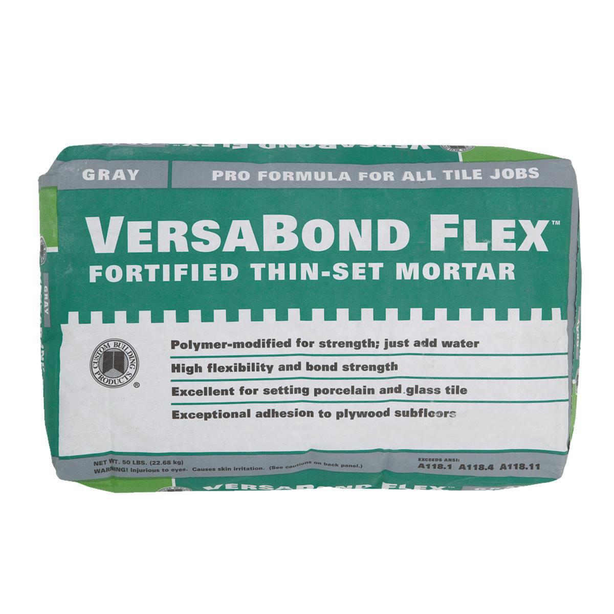 Custom Building Products Versabond Flex Thin-Set Mortar Mix VBFG50