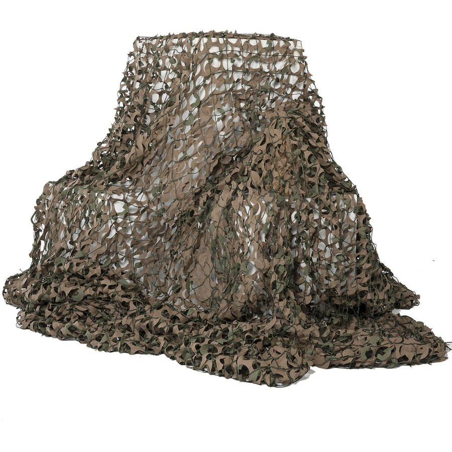 """Camo Unlimited Basic Military 9' 10"""" x 9' 10"""" Camouflage Netting, Woodland, Green and Brown"""