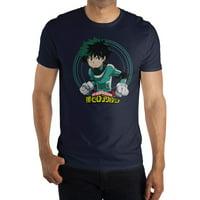 My Hero Academia Men's and Big Men's Navy Graphic T-shirt