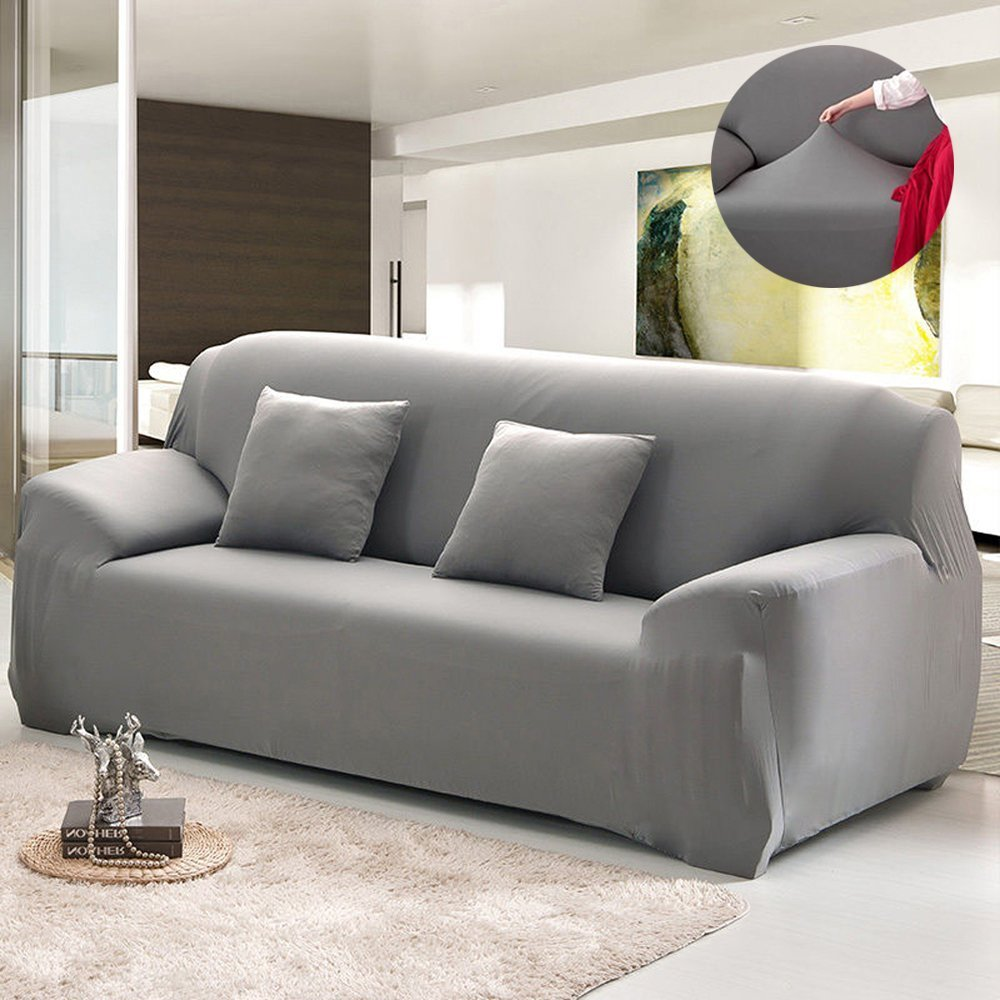 Couch Sofa Covers,1-4 Seater Sofa Furniture Protector Home Full Stretch Lightweight Elastic Fabric Soft Couch Slipcovers