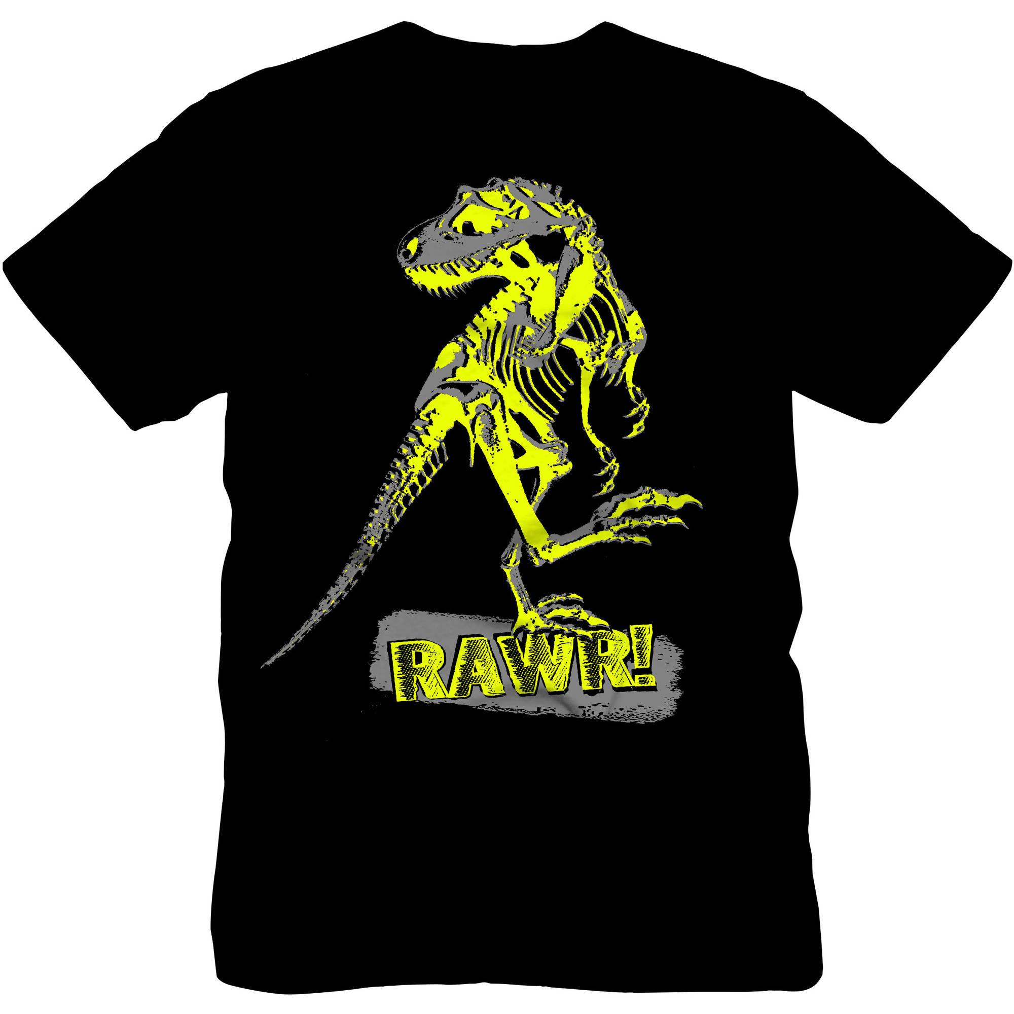Boys Glow In The Dark Dinosaur Graphic Tee