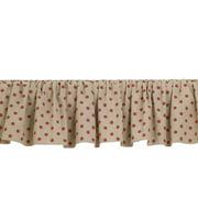 Cotton Tale Raspberry Dot 14'' Bed Skirt