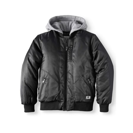 Padded Bomber Jacket With Fleece Hood (Big Boy) ()