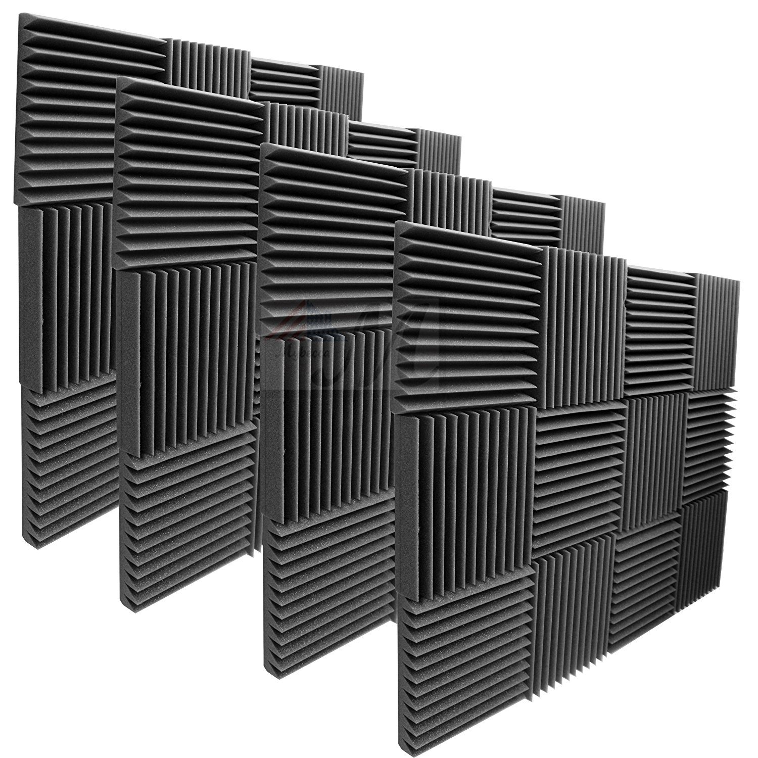 "48 Pack Acoustic Panels Studio Soundproofing Foam Wedges 2"" X 12"" X 12"""
