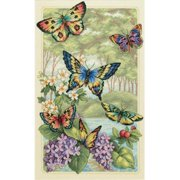 "Dimensions Gold Collection ""Butterfly Forest"" Counted Cross Stitch Kit, 10"" x 16"""