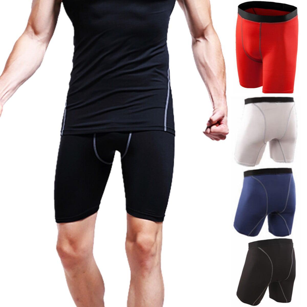 Base Layer Men's Compression Skin Tights Sports Shorts Short Pants Running Gym Yoga Sport Shorts Pants, S-XXL