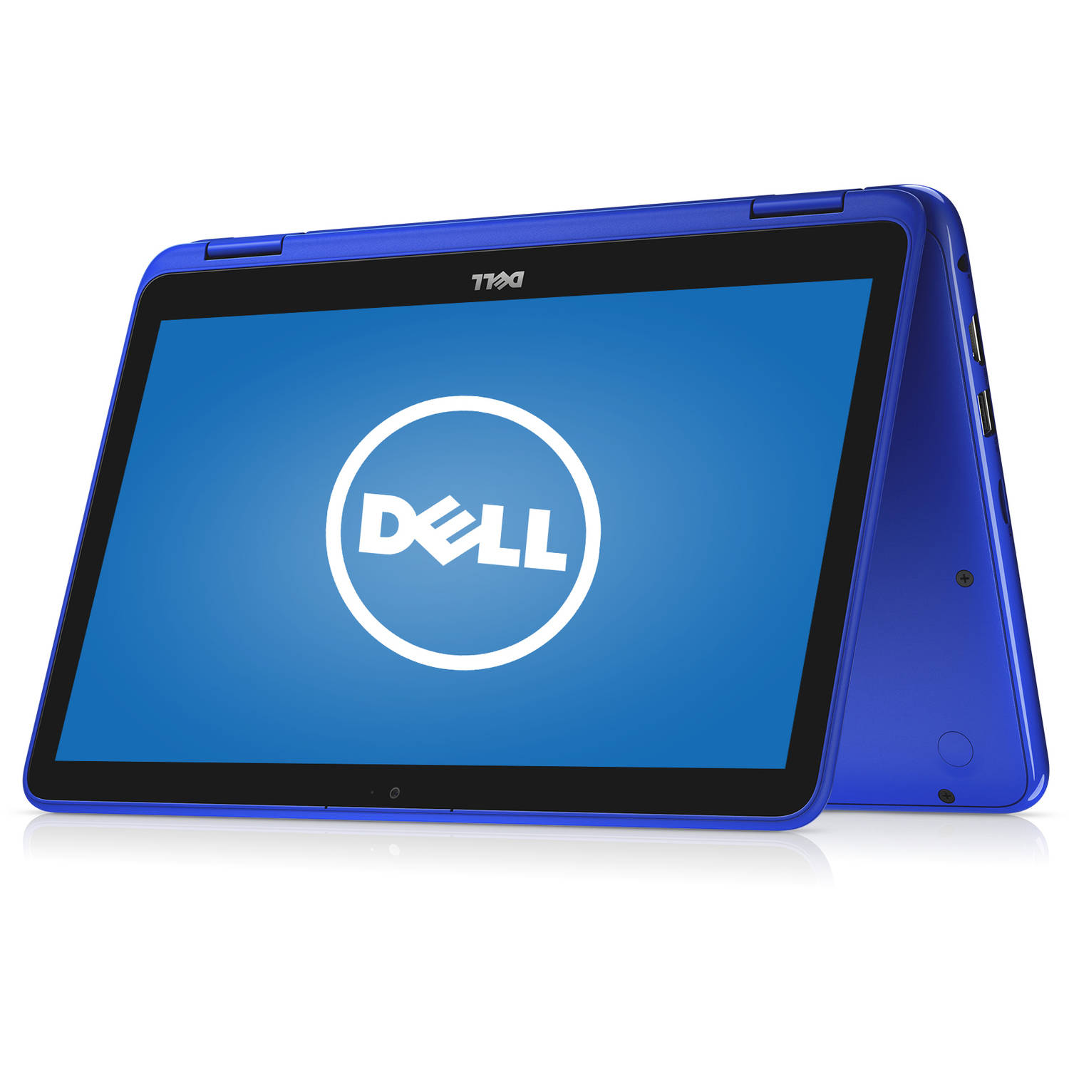 "Dell i3168-0028BLU Inspiron 11 3000 11.6"" Laptop, touch screen, 2-in-1, Windows 10 Home, Intel Celeron N3060 Processor, 2GB RAM, 32GB eMMC"