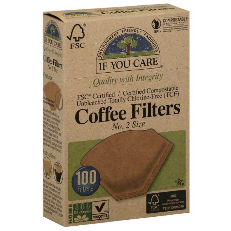 If You Care No. 2 Size Coffee Filters, 100 count, (Pack of 12)