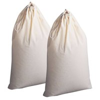 Household Essentials 2 pk 100% Cotton Laundry Bags Hamper Liners