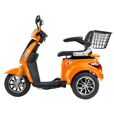T4B LU-500W Mobility Electric Recreational Outdoors Scooter 48V20AH with Three Speeds, 14/22/32kmph - Orange - image 8 de 14