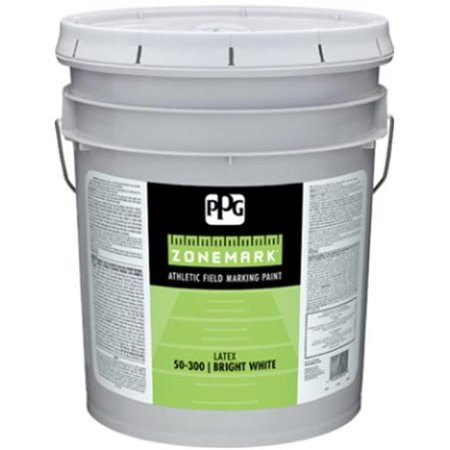 Pittsburgh Paints 50-310-05 5 gal Exterior Latex Athletic Field Marking Paint, White & Pastel Base Gloss Pastel Base Paint