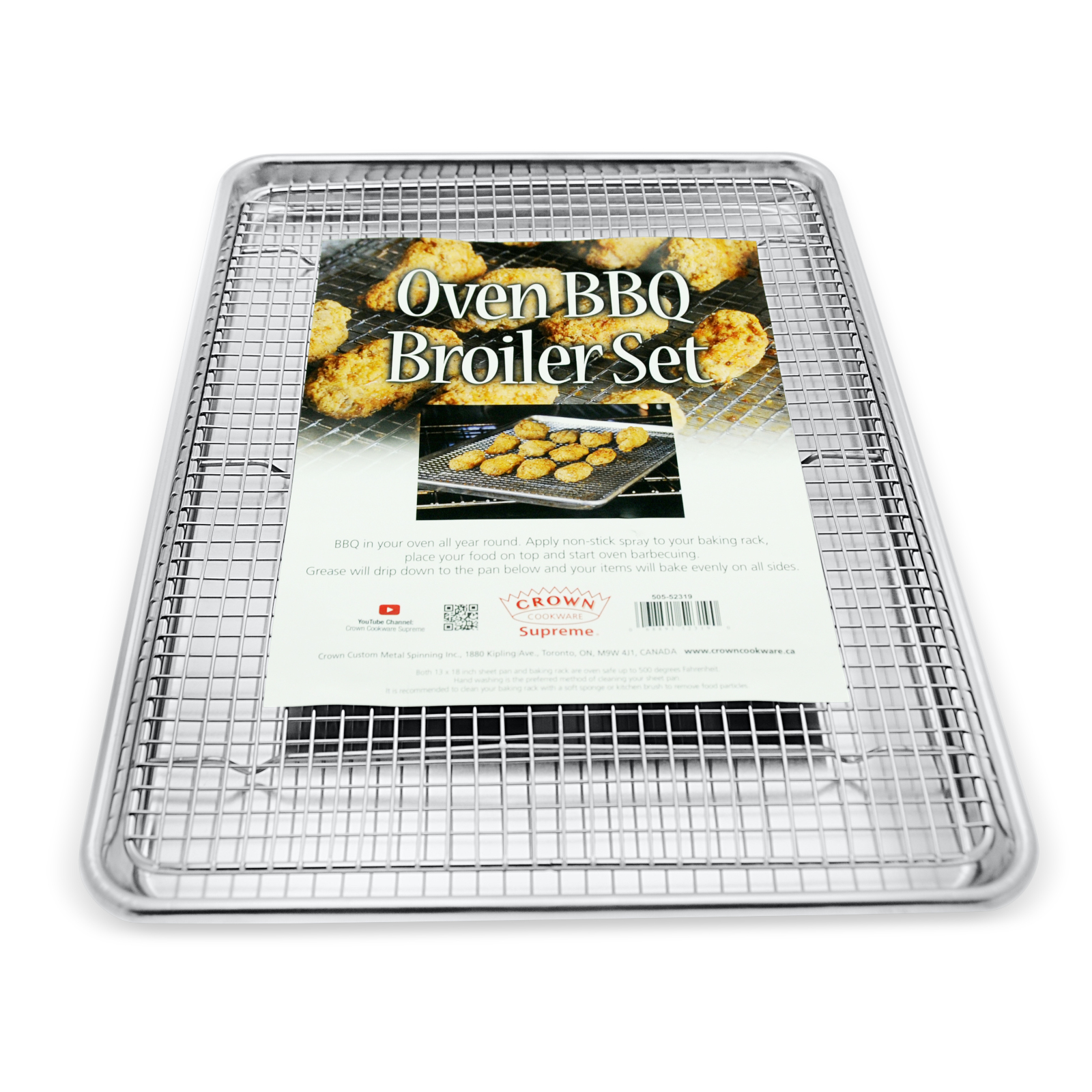 Crown Baking Sheet with Rack, Large 13x18 inch, Heavy Duty ...