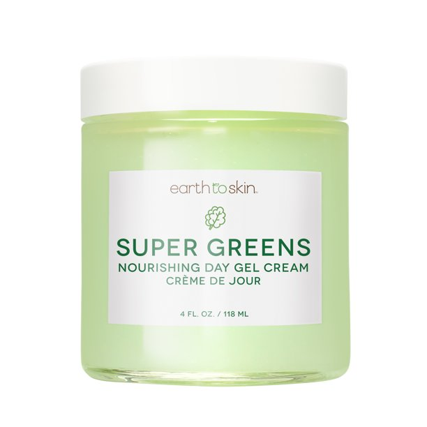 Earth to Skin Super Greens Nourshing Day Gel Cream, 4 oz
