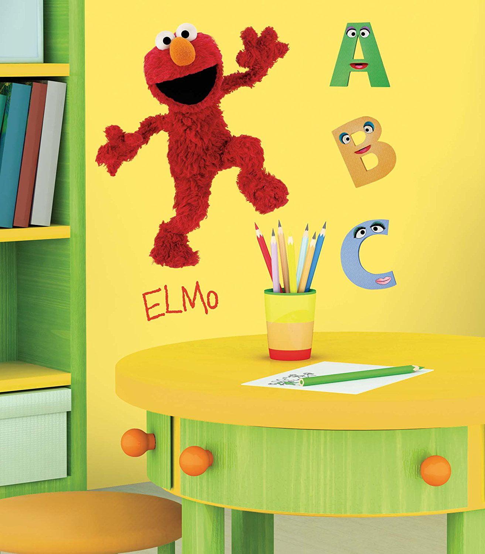 RMK1482GM Sesame Street Elmo Peel & Stick Giant Wall Decal ...