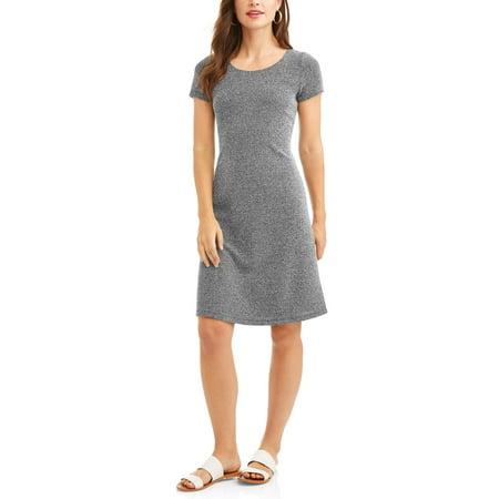 SHIRA PEARLA Women's 2 Tone Sweater Dress