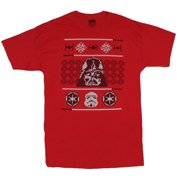 Star Wars Mens T-Shirt - Imperial Darth Vader Ugly Sweater Image