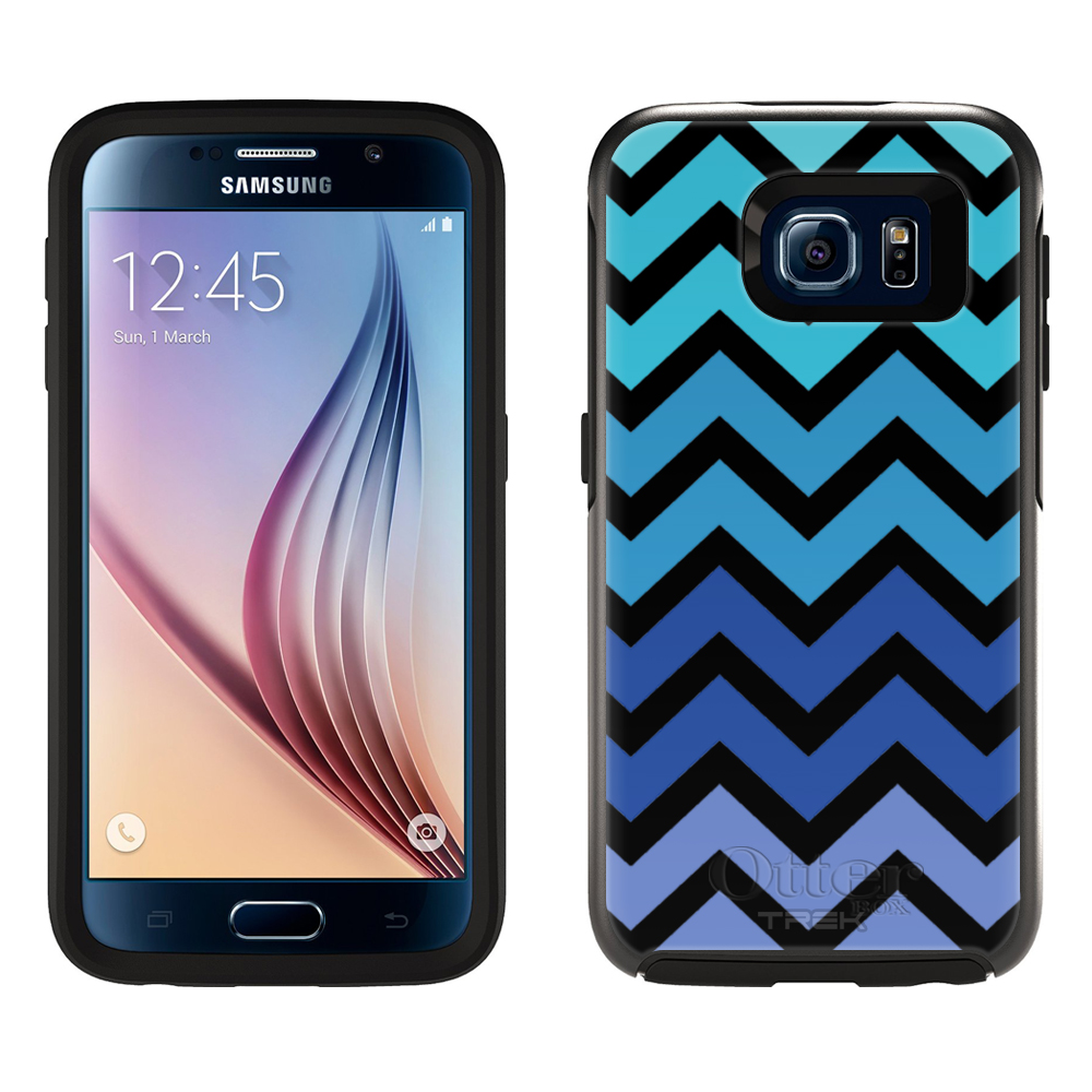 OtterBox Symmetry Samsung Galaxy S6 Case - Chevron Teal Blue Black OtterBox Case